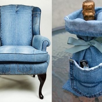 Amazing Way to Reuse Denim – Jeans Upholstery (2)