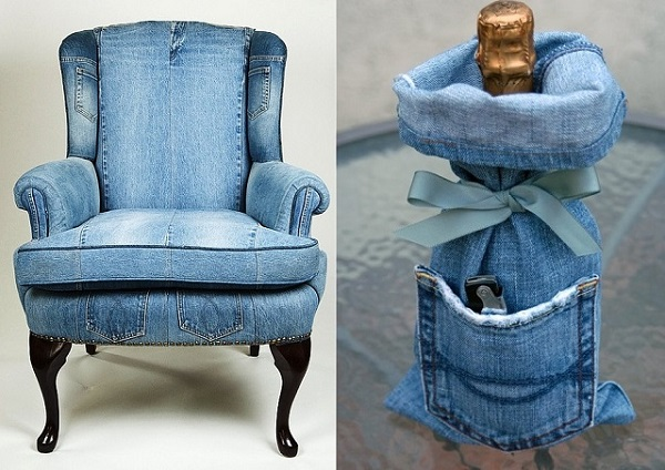 Amazing Way to Reuse Denim - Jeans Upholstery (2)