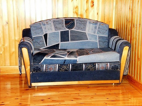 Amazing Way to Reuse Denim - Jeans Upholstery