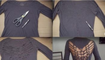 Dragonfly Cut Out T-shirt – DIY