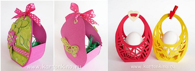 Easter baskets diy alldaychic today we invite you along with olga kachurovskii to make easter baskets for the safely depositing easter eggs and also solve the problem of gift wrapping negle Image collections