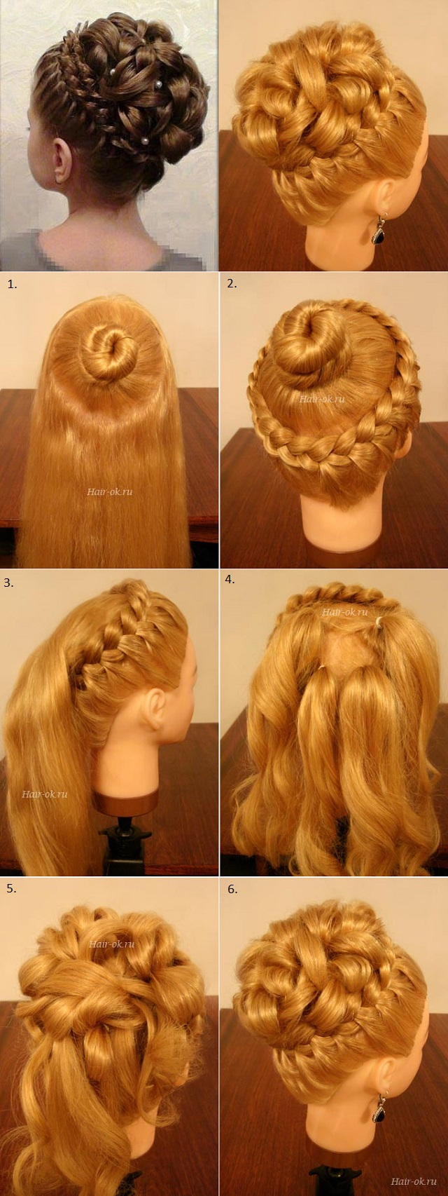Elegant Braiding Hairstyle With Curls - DIY