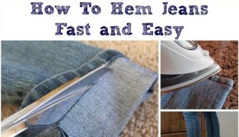 Hem Your Jeans Fast and Easy – DIY