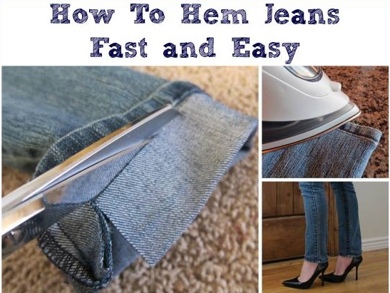Hem Your Jeans Fast and Easy - DIY