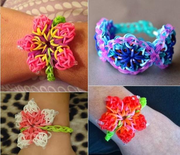 Hibiscus Flower Rainbow Loom Pattern Diy Bracelet