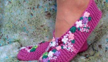 Knitted-Slippers-Lilac-600×449