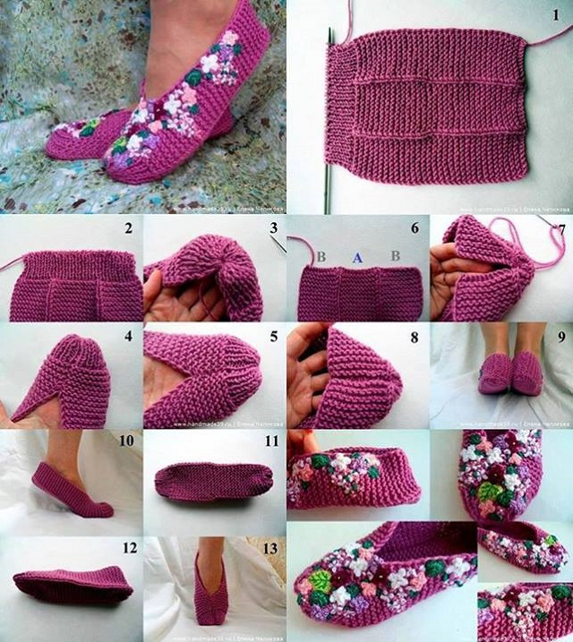 Lilac Home Slippers - DIY