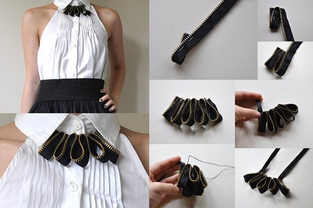 Lovely Zipper Necklace - DIY