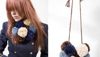 Pom-pom Necklace Scarf – DIY
