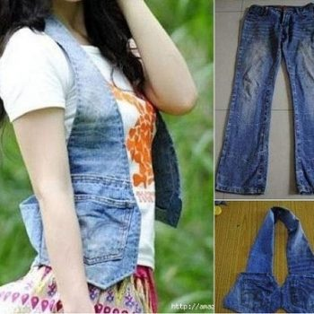Waistcoat Out of Old Jeans – DIY