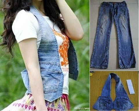 Waistcoat Out Of Old Jeans Diy Alldaychic