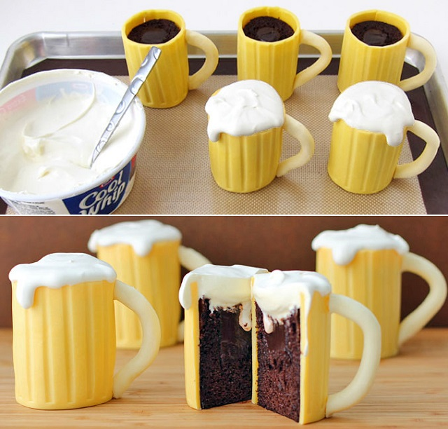 Beer Mug Cupcakes with Whiskey Cream Filling (4)