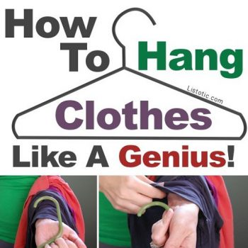 Hang clothes 10 times faster than you usually do.