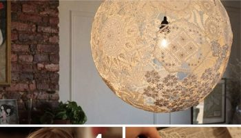 Lamp Made from Lace – DIY