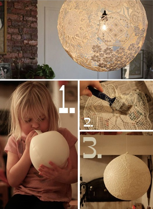 Lamp Made from Lace - DIY