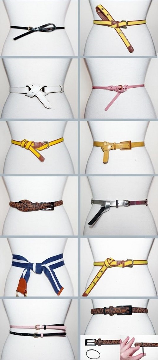 Wear a belt many various ways