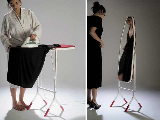 2 in 1 Ironing Board and Mirror