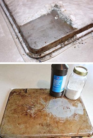 5 Cleaning Tips & Tricks-Cookie Sheet Cleaner