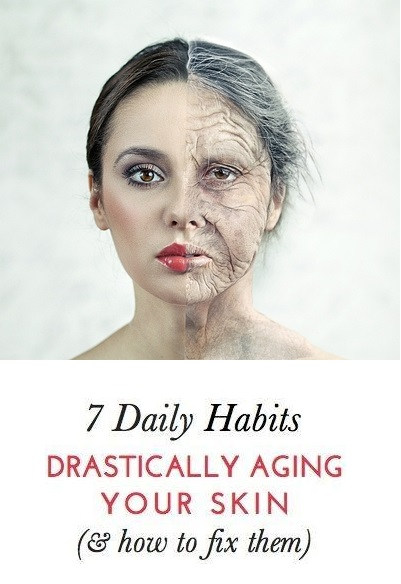 7 Dangerous Daily Habbits That are Aging Your Skin