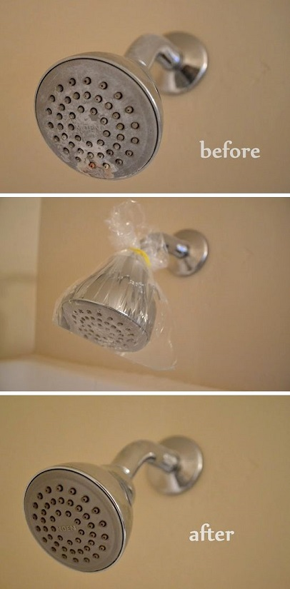 Cleaning Tips & Tricks-Cleaning A Shower Head