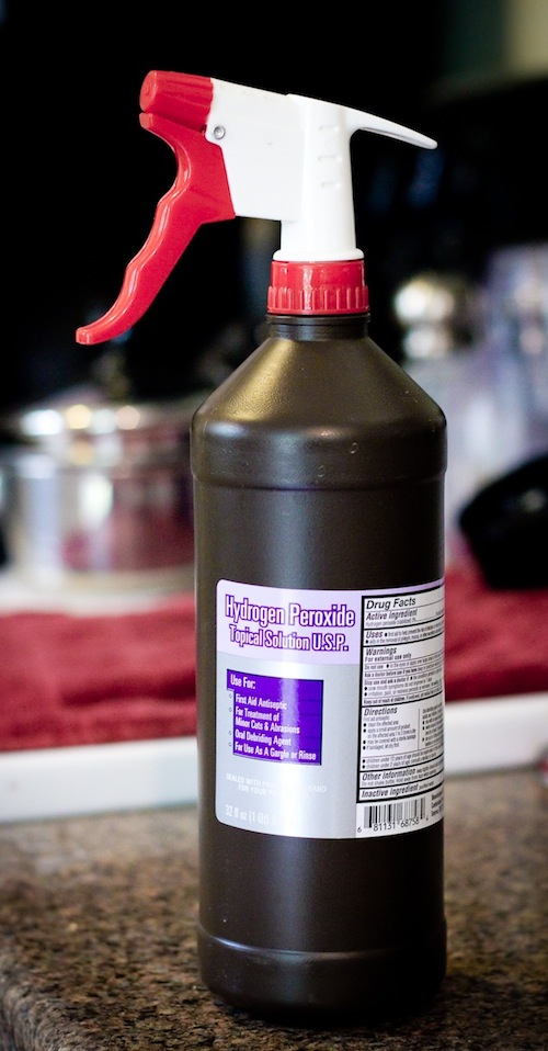 Cleaning Tips & Tricks-DIY Hydrogen Peroxide Spray Bottle