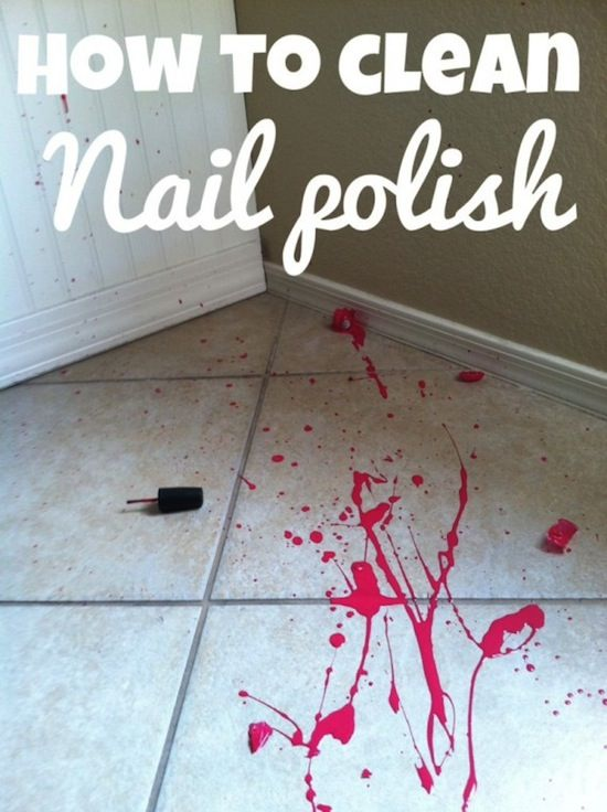 Cleaning Tips & Tricks-Nail Polish & Tile