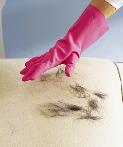 Cleaning Tips & Tricks-Rubber Gloves To Remove Pet Hair
