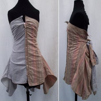 Creative Skirt and Dress Made from Shirts – DIY