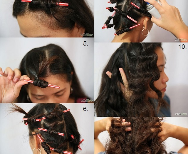 how to make your hair curly with straws