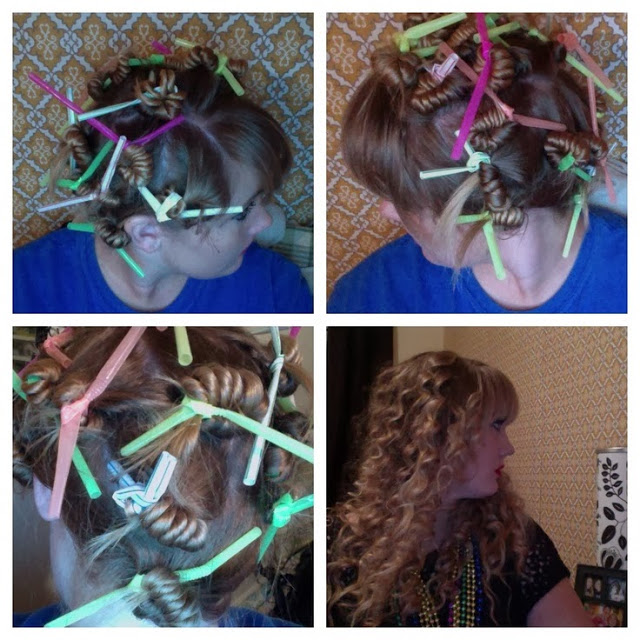 Curl Your Hair With Drinking Straws