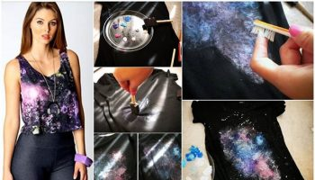 Galaxy Twist Bleach T-shirt – DIY