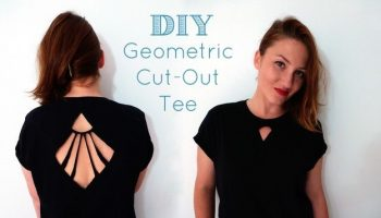 Geometric Cut-Out Tee – DIY