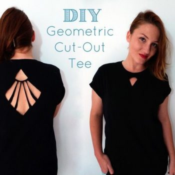 Geometric Cut-Out Tee – DIY