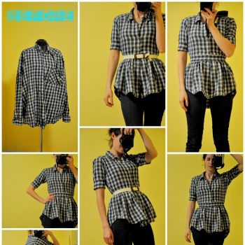 How to Make a Peplum Blouse from a Shirt