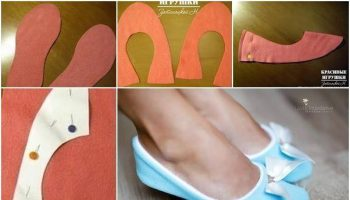 Soft Fabric Slippers – DIY