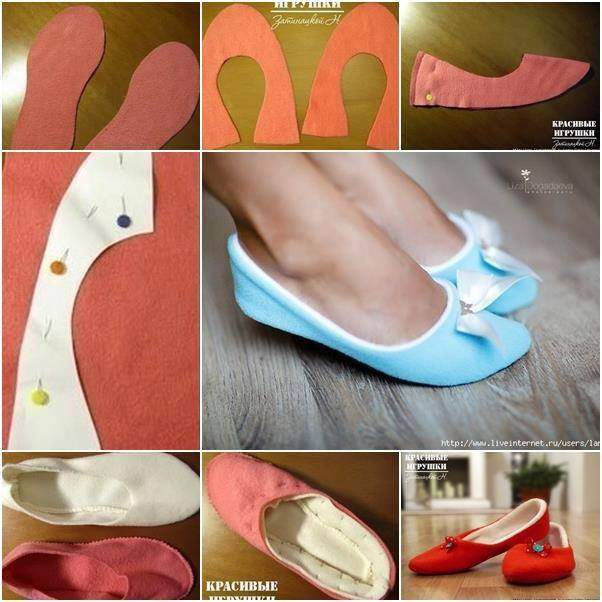 Soft Fabric Slippers - DIY