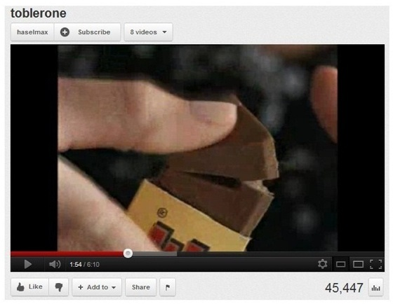 Toblerone piece
