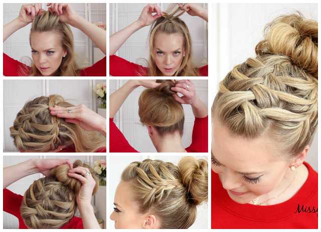 Groovy Triple French Braid With Double Waterfall Hairstyle Alldaychic Short Hairstyles Gunalazisus