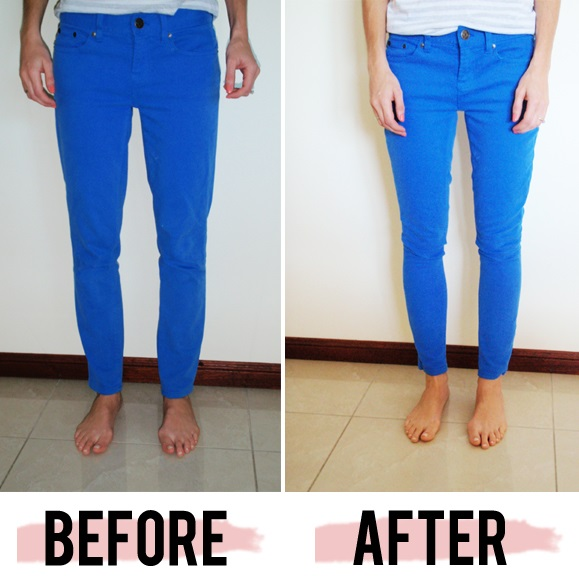 Turn Straight Jeans into Skinny Jeans - DIY - AllDayChic