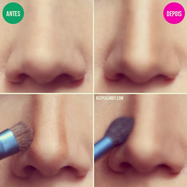 how to use makeup to make your nose look smaller