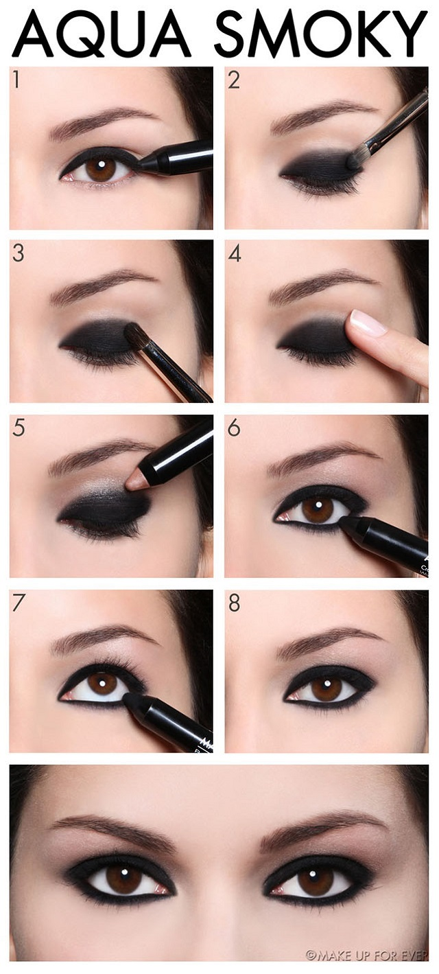 amazing smokey eye makeup tutorial alldaychic. Black Bedroom Furniture Sets. Home Design Ideas