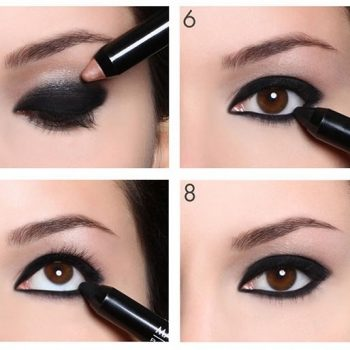 Aqua-Smoky-Eye-Shadow-Makeup-Tutorial