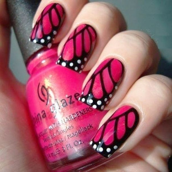 Butterfly Wings Nail Art (2)