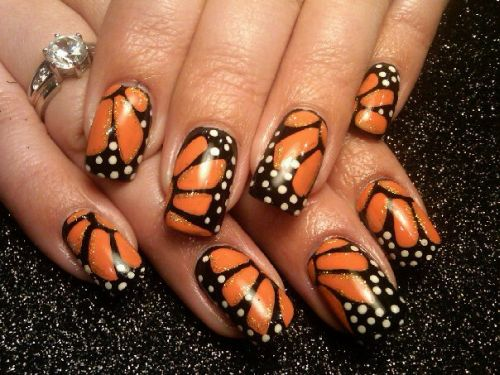 Butterfly Wings Nail Art (4)
