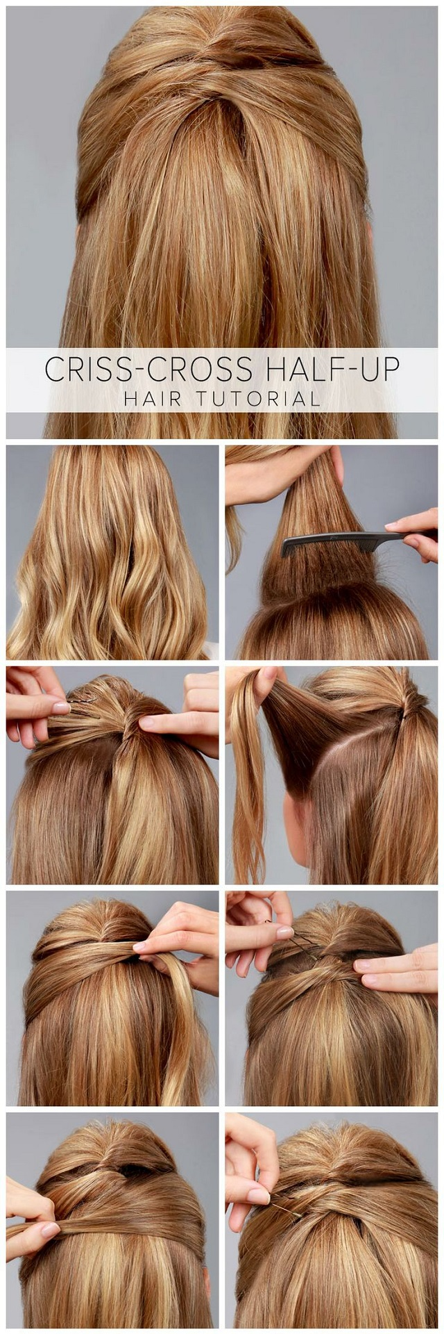 Criss Cross Hairstyle Tutorial