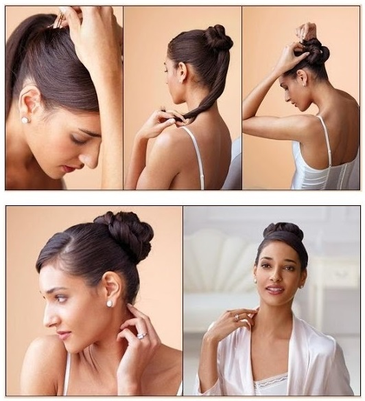 Easy Top Knot Hairstyle - AllDayChic