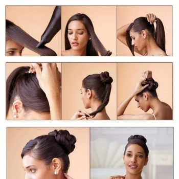 Easy-Top-Knot-Hairstyle
