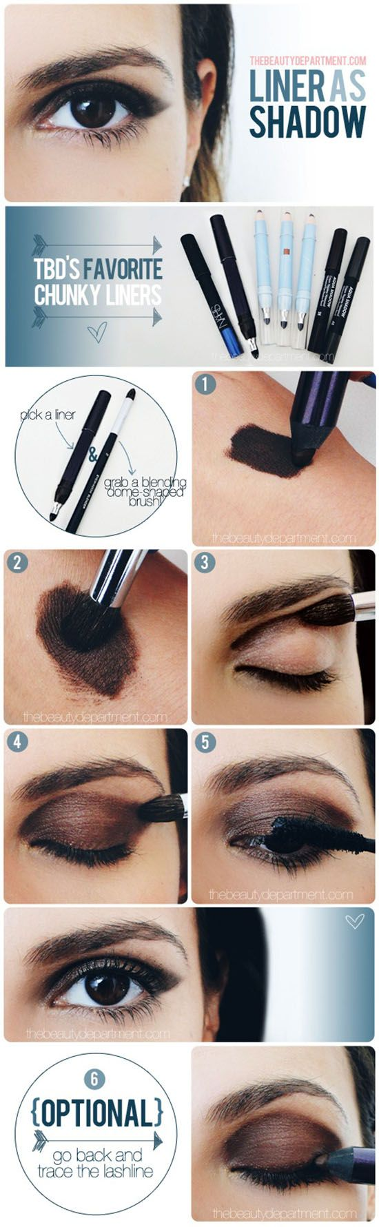 How to Make Smokey Eyes with Just a Liner