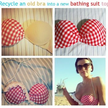 How to Make a Swimsuit Top From an Old Bra