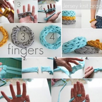 Jersey Finger Knitted Bracelets – DIY